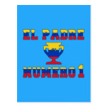 El Padre Número 1 - Number 1 Dad in Venezuelan Postcard
