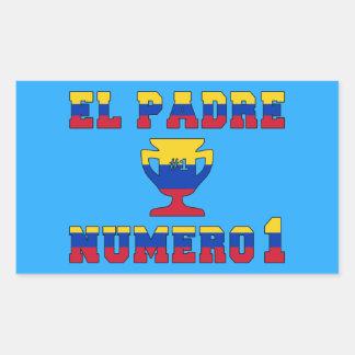 El Padre Número 1 - Number 1 Dad in Venezuelan Rectangular Sticker