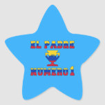 El Padre Número 1 - Number 1 Dad in Venezuelan Star Stickers