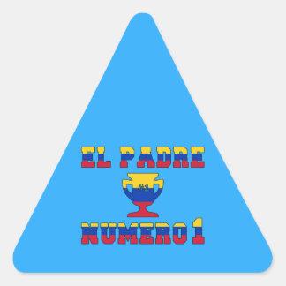 El Padre Número 1 - Number 1 Dad in Venezuelan Triangle Sticker