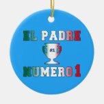 EL Padre Número 1 papá #1 en el día de padre Ornamentos De Reyes Magos