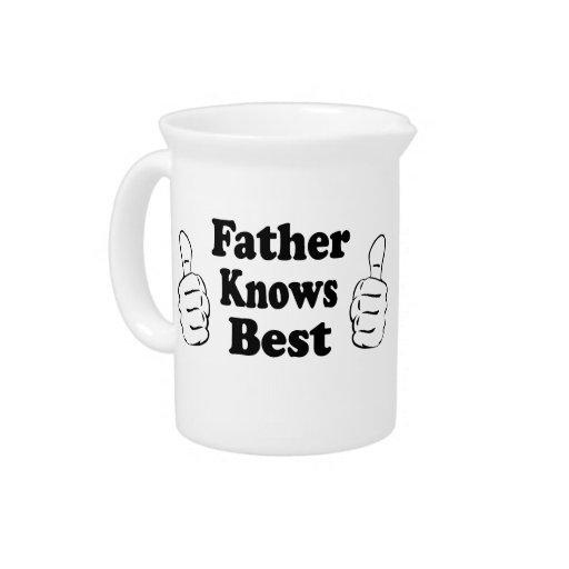 El padre sabe mejor. Diseño para los papás, abuelo Jarra Para Bebida