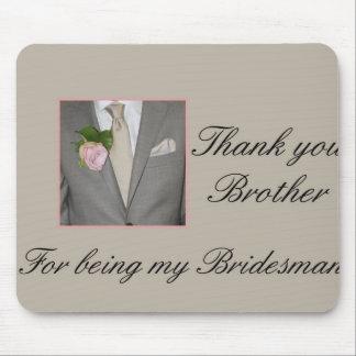 El padrino de boda de Brother le agradece Tapete De Ratón
