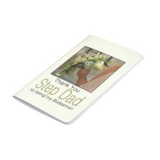 El padrino de boda del papá del paso le agradece cuadernos grapados
