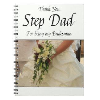 El padrino de boda del papá del paso le agradece libretas espirales