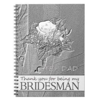 El padrino de boda del papá del paso le agradece libro de apuntes con espiral