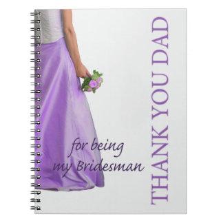 El padrino de boda del papá le agradece libros de apuntes