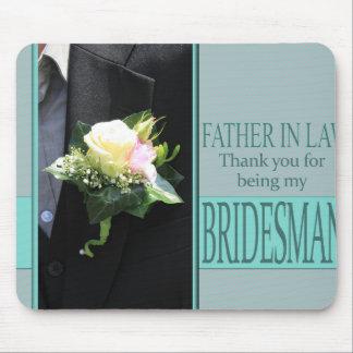 El padrino de boda del suegro le agradece mouse pads