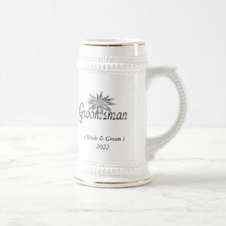 El padrino de boda jarra de cerveza