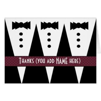El padrino de boda le agradece el personalizable V Felicitacion