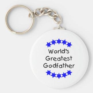 El padrino más grande del mundo estrellas azules llavero personalizado