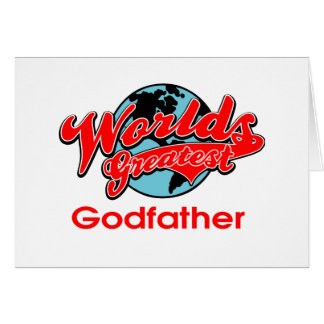 El padrino más grande del mundo tarjeta de felicitación
