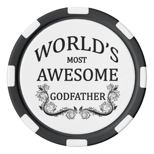 El padrino más impresionante del mundo fichas de póquer
