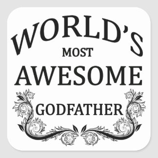 El padrino más impresionante del mundo calcomanías cuadradass personalizadas