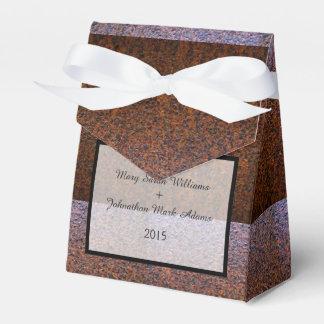El país aherrumbró el boda de acero cajas para regalos de fiestas