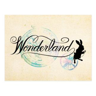 El país de las maravillas blanco del conejo el | tarjetas postales