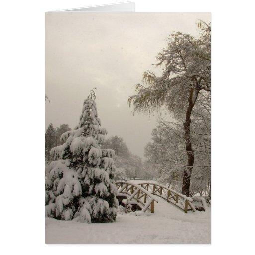 El país de las maravillas del invierno carda tarje felicitaciones