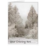 El país de las maravillas del invierno carda tarje felicitación