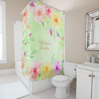 el país de los rosas de la cabaña florece el cortina de baño