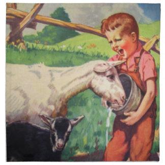El país embroma la Servilleta-Cabra y al muchacho Servilleta