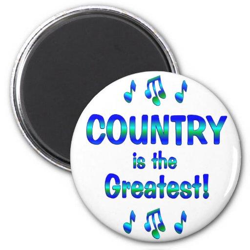 El país es el más grande imán redondo 5 cm