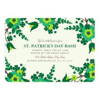 """El país florece el día de St Patrick invita Invitación 5"""" X 7"""""""