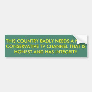 El país necesita un nuevo canal de televisión pegatina para coche