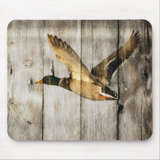 el país rústico del barnwood del vintage ducks al  alfombrillas de ratón
