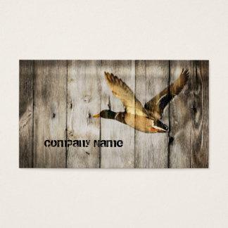 El país rústico del barnwood del vintage ducks al tarjeta de negocios