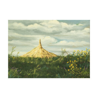 El paisaje 1170 de la roca de la chimenea envolvió impresión en lienzo estirada