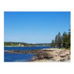 El paisaje costero de Maine Postal