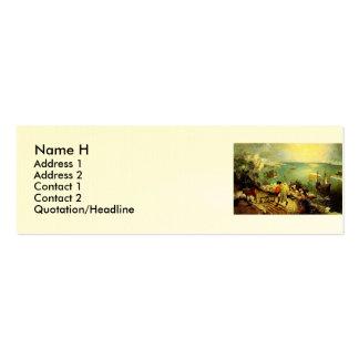 El paisaje de Bruegel con la caída de Ícaro - 1558 Plantillas De Tarjeta De Negocio