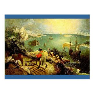 El paisaje de Bruegel con la caída de Ícaro - 1558 Postales