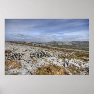 El paisaje de Burren Posters