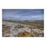 El paisaje de Burren Póster