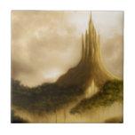 el paisaje de la fantasía del reino del elven tejas  cerámicas