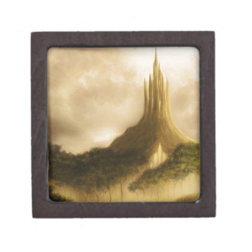 el paisaje de la fantasía del reino del elven caja de regalo de calidad