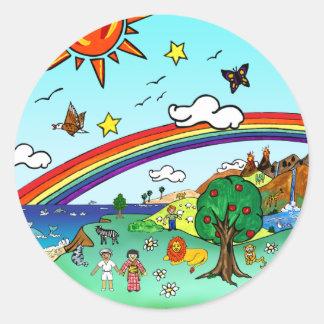El paisaje de los niños idílicos -- Carpeta del pa Etiqueta
