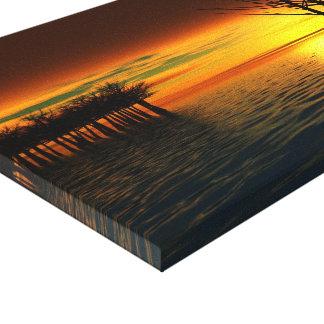 El paisaje de oro estiró la impresión de la lona lona envuelta para galerías