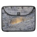 El paisaje del invierno del blanco nevado con la l funda para macbooks