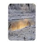 El paisaje del invierno del blanco nevado con la l imanes de vinilo