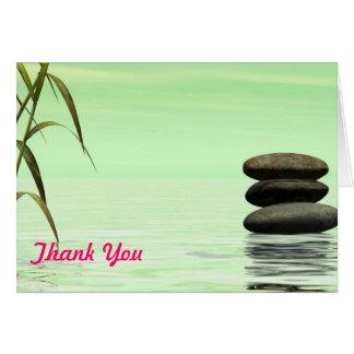 el paisaje del lago le agradece observar tarjeta de felicitación