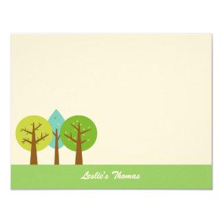 """El paisaje del verano le agradece las tarjetas invitación 4.25"""" x 5.5"""""""