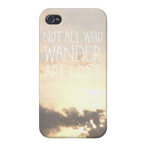El paisaje del viajero de mundo del Wanderlust se  iPhone 4/4S Carcasas