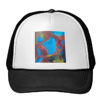 El paisaje elegido pintura de paisaje abstracta gorro
