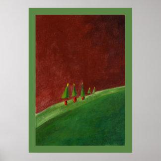 El paisaje sazona el poster de los saludos póster