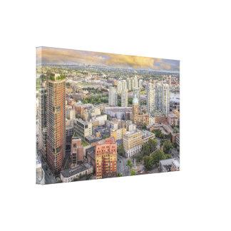 El paisaje urbano de Vancouver Canadá envolvió A.C Impresiones En Lienzo Estiradas