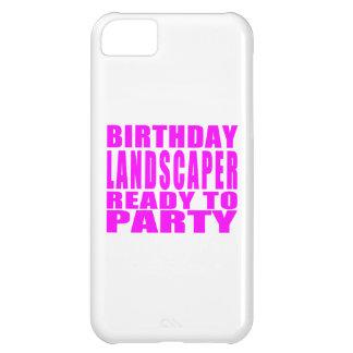 El paisajista rosado del cumpleaños alista el funda para iPhone 5C
