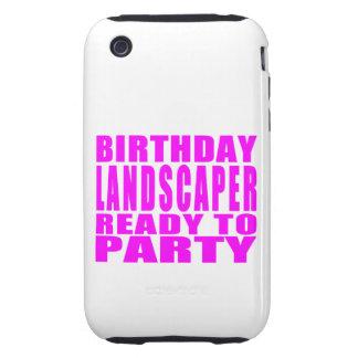 El paisajista rosado del cumpleaños alista el tough iPhone 3 cárcasa