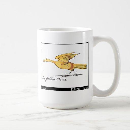 El pájaro amarillo de Edward Lear Taza